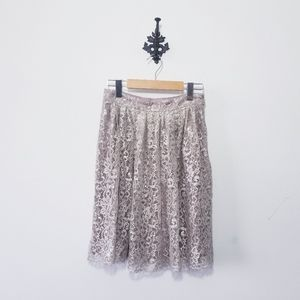 Anthropologie HD in Paris Lace Skirt Size 4 EUC